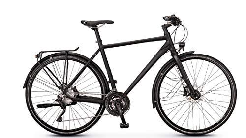 Rabeneick TS8 Trekking Bike 2020 - Bicicleta de trekking para hombre (28', diamante 55 cm), color negro mate