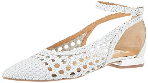 Gioseppo DELL, Zapatos Tipo Ballet Mujer, Blanco, 37 EU