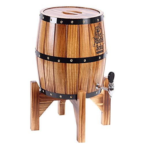KOUJ Vertical Barril De Madera 3L/5L Dispensador para Vino Almacenamiento Grifo Cognac Ginebra Ron Sangria Licor Cerveza,5L