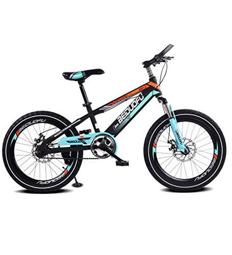 SJSF Y Fahrräder Einzelne Geschwindigkeit 16 Zoll Mountainbikes Einteiliges Rad Scheibenbremse Stoßdämpfung Kinderfahrrad 4 Farben Erhältlich,Black