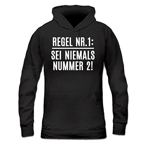 Shirtcity Regel Nr. 1: Sei Niemals Nummer 2! Frauen Kapuzenpullover by
