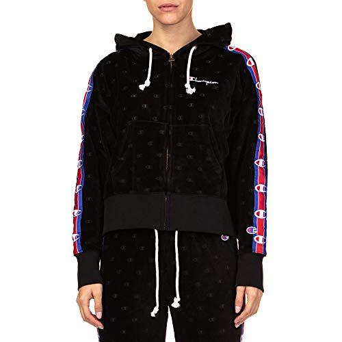 Champion Velour Hooded Jacket Ref: 111045-KL001 Color: Black,Blue,Red,White (M)