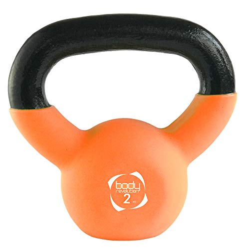 Body Revolution Kettlebells - Neoprene Coated Cast Iron Kettlebell - Range of Kettle Bells Sold Separately (2kg (Orange))