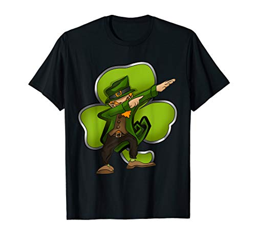 Dabbing Leprechaun St Patricks Day Kostüm mit Kobold T-Shirt