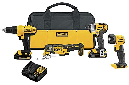 DEWALT 20V MAX Cordless Drill Combo Kit , 4-Tool (DCK444C2)