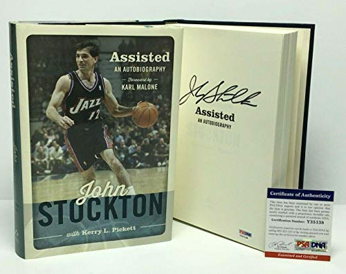 John Starks NBA Utah Jazz Hand Signed 8x10 Photograph Black Jersey