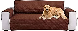 Sofa Slipcover Reversible,1-Piece Quilted Couch Cover for 3 Cushion Couch Non-slip Furniture Protector Machine washable So...