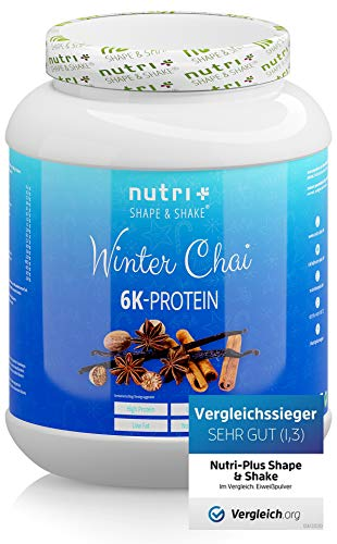 Proteinpulver WINTER CHAI 1kg - Protein Pulver Blend - hochdosiertes Eiweißpulver Special - Shape & Shake Eiweiß Weihnachten mit 6 Komponenten