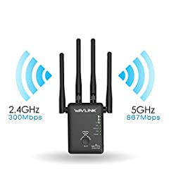WiFi Range Extender, Latest 1200Mbps Wireless Signal Repeater Booster, Black5