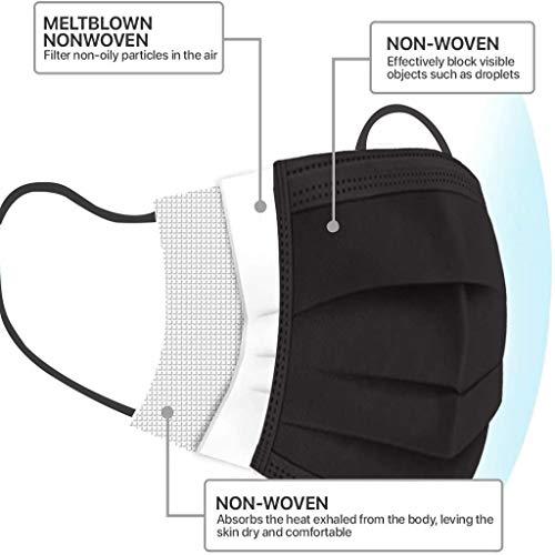50PCS Bandana Face Cloth Protection Dust Disposable 3Ply Cover String Elastic Fashion Half Balaclava Fabric Adjustable Breathable Scarf