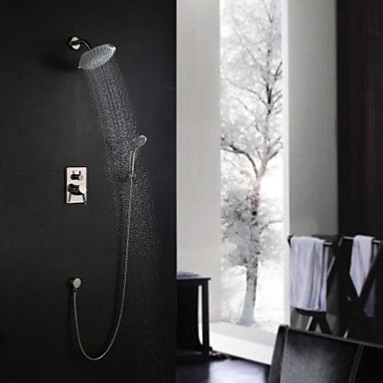 Shengshiyujia Duscharmaturen - Moderne Gebürsteter Nickel Wandmontage Keramisches Ventil Messing Einhand DREI Lcher