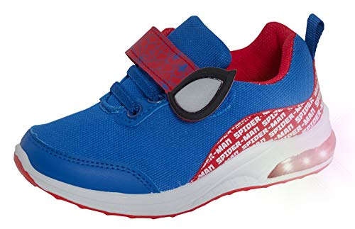 MARVEL Boys Spiderman Light Up Trainers Boys Easy Fasten Sports Shoes with...