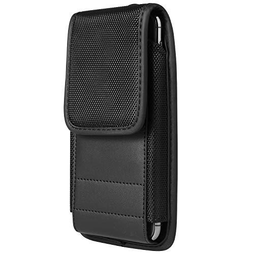 Handy-Gürtelclip, Nylon, mit Kartenschlitz, kompatibel mit Apple iPhone 11 Pro Max / OnePlus 7T / Huawei Mate 30 / LG Stylo 5 / G8X ThinQ / Motorola G8 Plus / Nokia 7.2 / BLU Bold N1