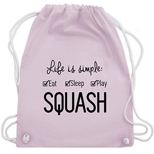 Shirtracer Tennis - Life is simple Squash - Unisize - Pastell Rosa - squash ball - WM110 - Turnbeutel und Stoffbeutel aus Baumwolle