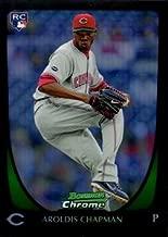 2011 Bowman Chrome Refractor #177 Aroldis Chapman Baseball Rookie Card