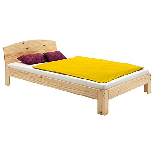 IDIMEX Holzbett Einzelbett Bett Tim Kiefer massiv Natur lackiert 100 x 200 cm (B x L)