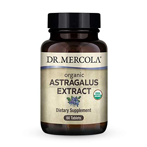 Dr. Mercola Organic Astragalus Extract, 30 Servings (60 Tablets), Supports Immune and Mitochondrial Health*, Non GMO, Soy Free, Gluten Free, USDA Organic