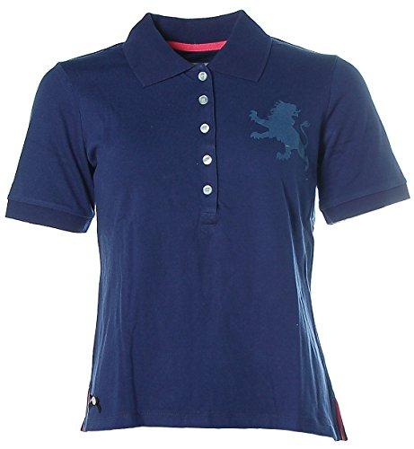 Kitaro Damen Kurzarm Shirt Poloshirt Pikee 38 blau dunkelblau