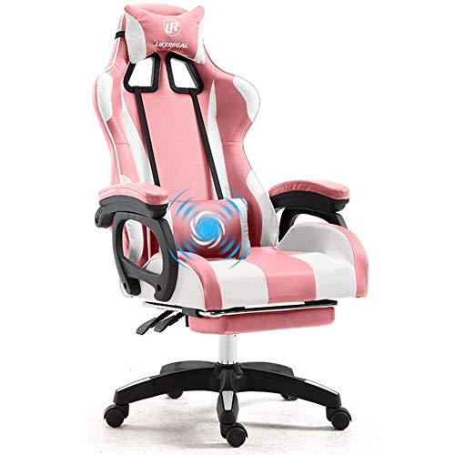 Kaper Go Weew PC Gaming Racing Presidente Silla de oficina Escritorio de la computadora Butaca de juego, la fibra de carbono de alta PU Volver ergonómica de 150 grados ajustable silla giratoria con re