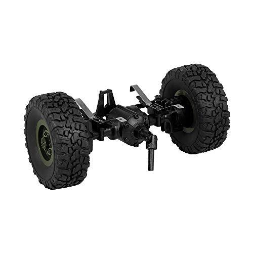 Goolsky JJR/C Vorderachse Achse Welle mit Reifen Rad für Q60 Q61 1/16 RC Offroad Crawler Military Truck Armee Auto