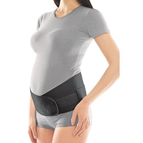 Schwangerschaftsgürtel Verstellbare Becken- und Rückenstütze Schwangerschafts-Bauchbinden Large Schwarz