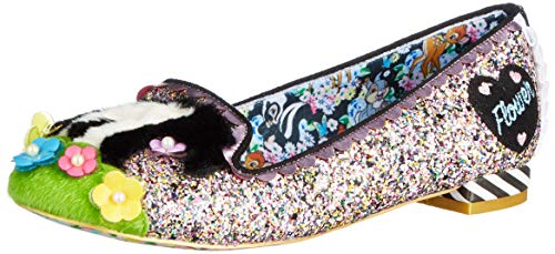 Irregular Choice Damen Bashful Skunk Geschlossene Ballerinas, Schwarz (Black Multi A), 37 EU