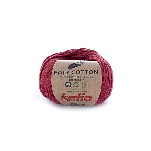 Katia Fair Cotton Fb. 27 - granat, Baumwollgarn, organische Baumwolle, Biobaumwolle zum Stricken und Häkeln