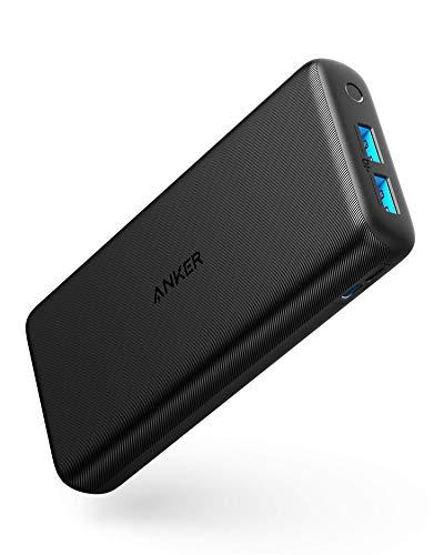 Anker PowerCore Lite 20000mAh Kompakte Powerbank, Leistungsstarker Externer Akku, für iPhone X 8 8Plus 7 6s 6Plus, iPad, Samsung Galaxy und Viele Mehr(Generalüberholt)