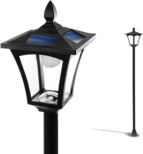 "wholesale Home discount Zone Solar Lamp Post Light - 65"" Tall Decorative Outdoor Solar Garden Lamp online Post Lights (1 Set) online sale"