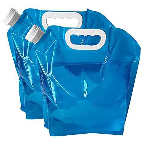 Bolsa De Almacenamiento De Agua De Emergencia Plegable, Contenedor De Agua Sin BPA, No Fugas, Fácil De Transportar, Usado para Senderismo, Camping, Vacaciones En Picnic, 2 Piezas,2.64 gallons