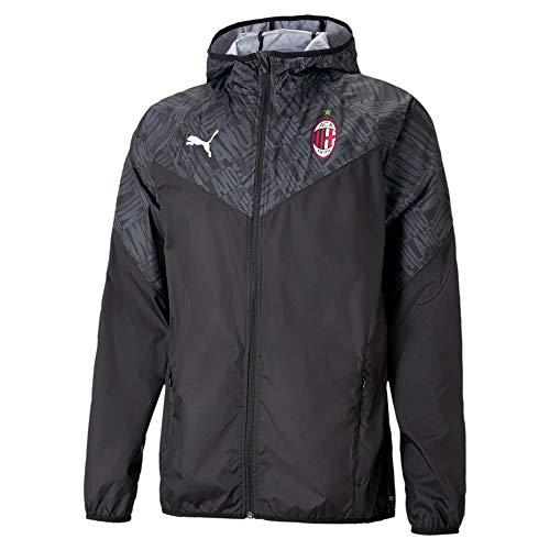 PUMA AC Mailand Warmup F02 - Chaqueta, color negro y rojo