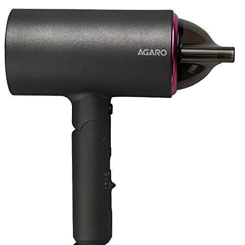 AGARO HD-1214 Premium Hair Dryer with 1400 Watts Motor, 3 Temperature Settings & Cool Shot Button- Black