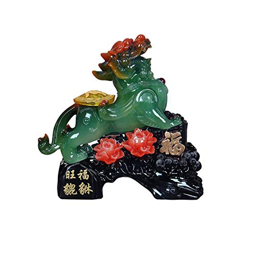 LYTBJ Esculturas de Arte PiXiu Feng Shui Decor Attract Wealth Estatua de Pixiu Decoración Pi Xiu Good Luck Figurine Collectible Home Decor Regalo de felicitación Estatuas coleccionables (Color: B)