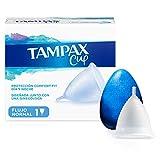 Tampax Copa Menstrual Flujo Regular, Protección Comfort-Fit Día y Noche, Fabricada 100% con...