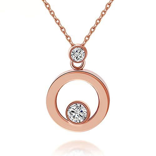 Blisfille Collar Oro 18K Colgantes de Luna Collar Flores Tela Colgantes de Piedras Naturales Colgante Mujer Gargantilla Collar Plata Arbol de la Vida