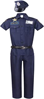 Short Sleeve Police Costume for Kids