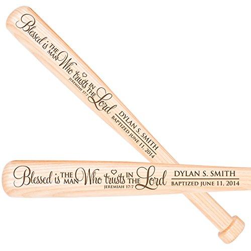 Custom Christening Baseball Bat Gift