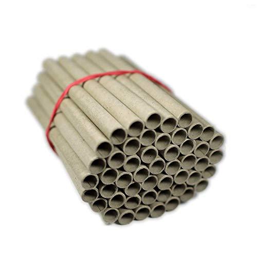 50 Papierhülsen für Insektenhotel zum selber bauen (Bausatz) als Bruthülsen, Papphülsen, Nisthülsen, Pappröhrchen - 8mm x 10mm x 120mm für Wildbienen