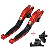 T/ÜV Leve della frizione del freno per Yamaha YZF-R125//125R 2008 2009 2010 2011 2012 rosso