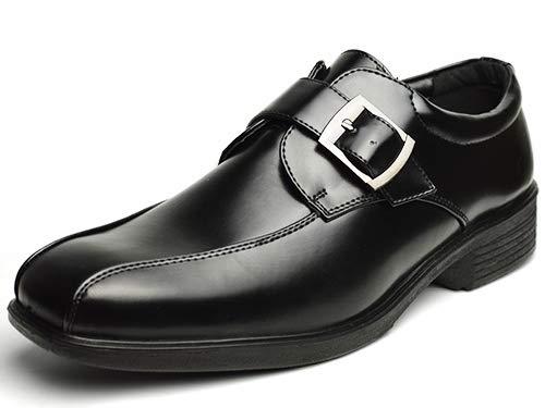 [ウイルソン] ビジネスシューズ AIR WALKING エアウォーキング メンズ 革靴 ビジネス スニーカー コンフォート ドレス 軽量 幅広 3EEE 73 Black 26cm