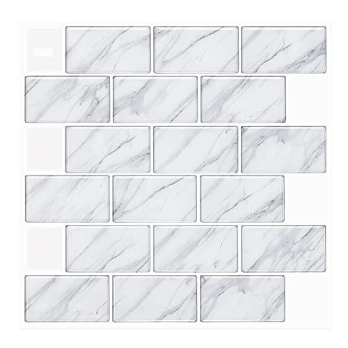 HAIT 305x305mm 3D Carta Parati Pannelli Decorativi Spesso, 1,3 mm di Spessore PVC Autoadesiva Pannello Decorativo Applique Pietra, 1/5/6/10/12 PCS,I,6PCS