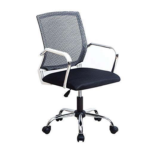 WNN-URG Computer Office Chair riunione for discutere Mesh Ascensore Rotating Chair semplice gioco Torna Chair, Black/Red WNN-URG (Color : B)