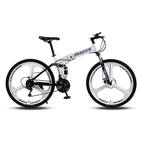 Bicicleta de montaña de 26 Pulgadas Marco de Acero de Alto Carbono para Bicicleta MTB con Horquilla Delantera con Amortiguador bloqueable (Tamaño: 24 velocidades, Color: Negro)