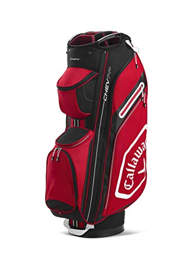 Callaway Golf Bags 2020 Chev 14+ -Bolsa para Carro, Color, Unisex Adulto, Cardinal/Blanco, Talla única