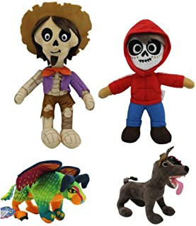 4PCS Movie Coco Hector Miguel Pepita Dante Soft Plush Stuffed Doll Kid Xmas Gift