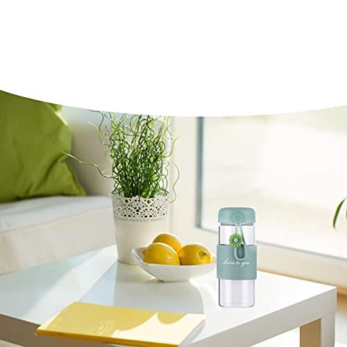 Fdit Tazas de Agua, Botellas de Agua con Funda de Silicona Antideslizante para el hogar para la Oficina para Regalo(Green)