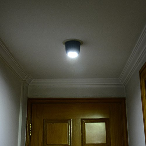 Motion Sensor Light,Faber3 Cordless Battery-Powered LED Night Light, Stick-anywhere Closet Lights Stair Lights, Safe Lights Wall Light for Hallway, Bathroom, Bedroom, Kitchen (Black)