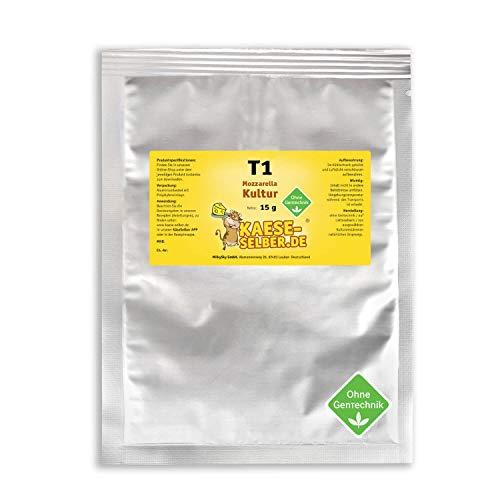 T1 Mozzarella Käsekulturen 15g thermophil (Käse selber machen), Reifung, Reifekultur