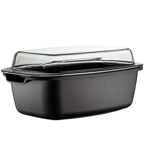 Style\'n Cook Rechteckbräter, Aluguss, schwarz, 32 cm