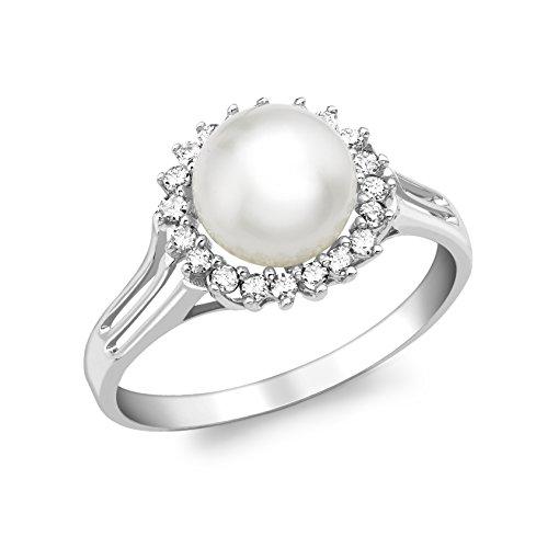 Carissima Gold Anillo de mujer con oro 9 K (375) y diamante y perla